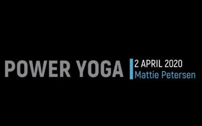 Power Yoga met Mattie Peters