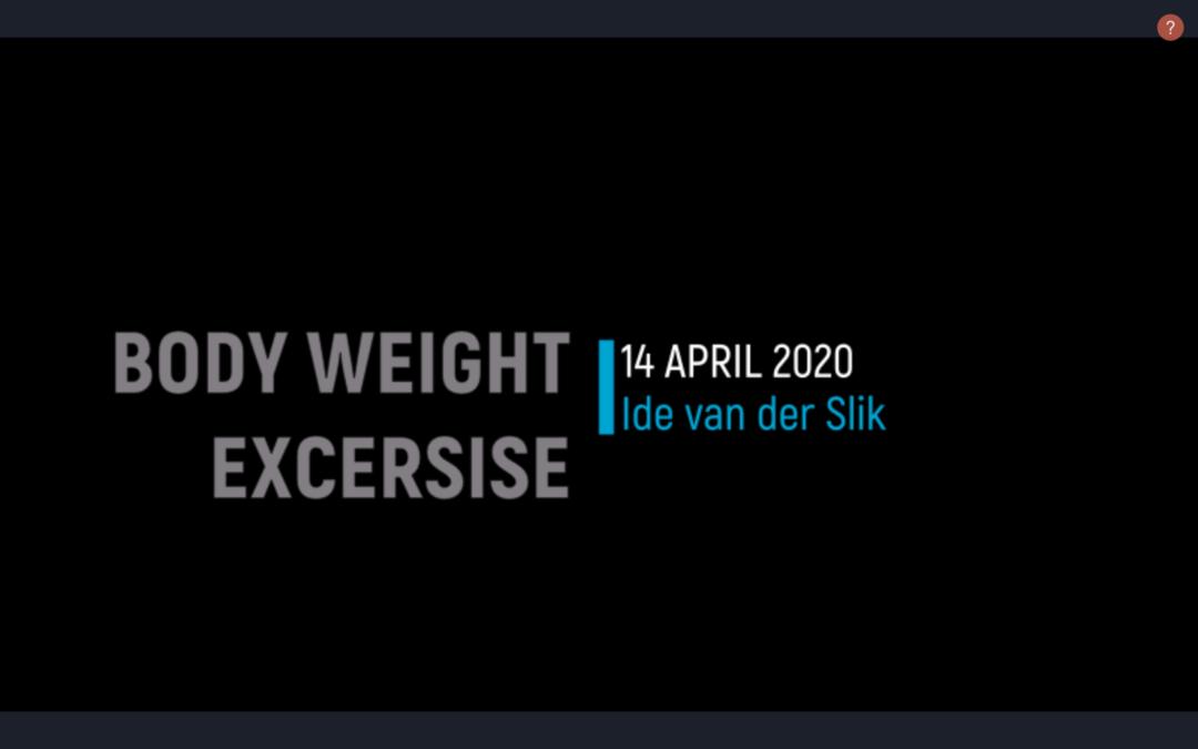 Body Weight Training 1